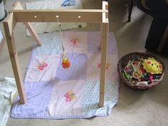 DIY Baby gym, Montessori style (finally...a tutorial to build one ourselves!) Cost > $10