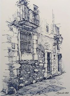 Amazing Pen and Ink Cross Hatching Masters Edition Ideas. Incredible Pen and Ink Cross Hatching Masters Edition Ideas. Ink Drawings, Drawing Sketches, Pintura Colonial, Building Sketch, Architecture Sketches, Sketch Painting, Urban Sketching, Pen Art, Drawing Techniques