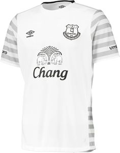 f79cb2d20ba The new Everton Away Kit is white with a subtle hoops design on the sleeves  and sides. It was officially released on July