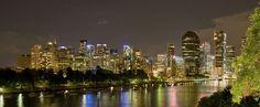 Night cityscape of Brisbane