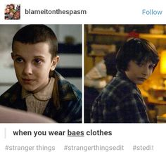 He also gave her the clothes he was wearing when he was playing dungeons and dragons in the first episode.