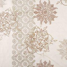 John Robshaw Textiles - Goa Pearl - Handprinted Linens - Fabric