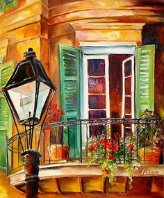 "French Quarter Balcony by Diane Millsap.  24"" x 20"" original oil painting on canvas"