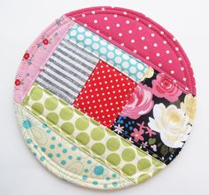 Patchwork Coasters PDF Sewing Pattern