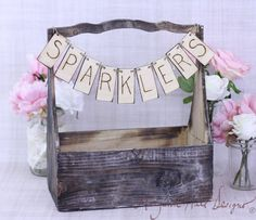 Rustic Basket With Programs Banner Sign Country Wedding Decor Barn Chic (Item Number 130031) on Etsy, $45.00