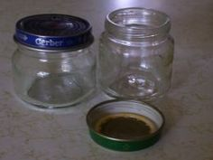 Smaller size baby food jars are excellent storage containers.