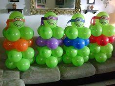 Teenage Mutant Ninja Turtles balloon centerpiece  table ... shellysdecor4you@gmail.com #Birthdays #BabyShowers #Graduations etc...