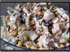 Maggie79 Kuchenne podboje: SAŁATKA z SELEREM naciowym, KURCZAKIEM i... Appetizer Recipes, Salad Recipes, Kitchen Magic, Spinach Pasta, One Pot Pasta, Tzatziki, Appetisers, Potato Salad, Food And Drink