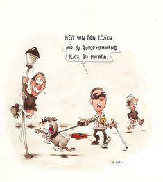 Behinderte Cartoons 24   Lustig illustration, Lustig ...