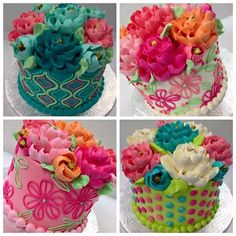 The White Flower Cake Shoppe's photo. Pretty Cakes, Cute Cakes, Beautiful Cakes, Amazing Cakes, Buttercream Decorating, Buttercream Cake, Cake Decorating, Frosting, Fancy Cakes