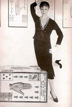 Mary Jane Russell, photo by Lillian Bassman, Harper's Bazaar, Aug. 1954