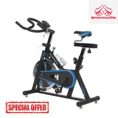 EXERCISE BIKE Stationary Cardio Training Indoor Upright Machine Fitness Cycle #Exerpeutic