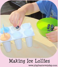 Play and Learn Everyday: Making Ice Lollies