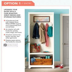 """I saw this in """"Make Your Case"""" in Lowe's Creative Ideas February Creative Home, Creative Ideas, Lowes Creative, Diy Cabinets, Home Organization, Organizing, Home Living Room, Decorating Your Home, Decorating Ideas"""