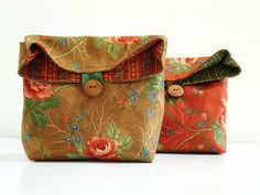 Brown Louisa Pouch / cosmetic / lunch bag