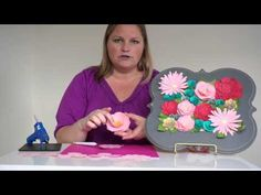 Paper flower tips and tricks using Cricut Explore - YouTube (Also specifically shows the peony flower from Cricut 3D Floral Home Decor cartridge)