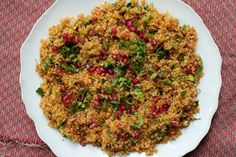 Kisir recipe from Ottolenghi in London. I love the pomegranate and bulgar combo (it even has green chilies and fresh mint)! Gorgeous and perfect for a picnic or BBQ.