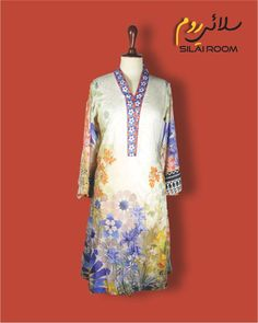Aline Shirt with Digital Print Full sleeves (Bell Shape) Fabric: Lawn Full Sleeves, Dresses With Sleeves, Off White, Lawn, Digital Prints, Shape, Long Sleeve, Fabric, Summer