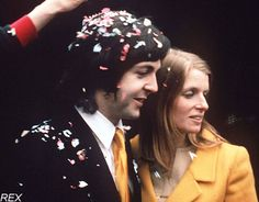 """""""She'd been married before, so she wasn't keen to get married again. She was unsure, but I persuaded her. I said, 'It'll be all right this time.'""""-Paul McCartney"""