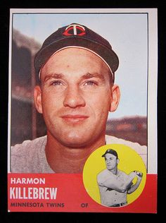 Cheer for the Minnesota Twins Today! Topps 1963 Minnesota Twins baseball card for outfielder Harmon Killebrew. Killebrew played for the Minnesota Twins Baseball Card Values, Baseball Star, Tigers Baseball, Baseball Jerseys, Baseball Cards, Baseball Movies, Mlb Twins, Minnesota Twins Baseball, Dallas Cowboys