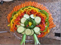 Turkey shaped veggie tray