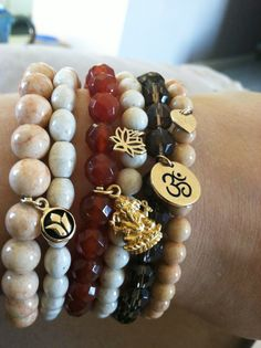 Beautiful braceles...Stacked by Blooming Lotus Jewelry #SoleYogaAssistantContest