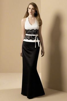 Black and White Bridesmaid Dress Designs Ideas This is an example of the elegant bridesmaid dresses designs ideas in white and black, mod. White Bridesmaid Dresses, Designer Bridesmaid Dresses, Bridesmaids, Evening Dresses, Prom Dresses, Dress Prom, Dresses 2013, Formal Dress, Dresses Online