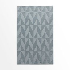 Andes Wool Rug, Dusty Blue, 2.5'x7' @west elm
