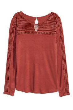 Bluză cu dantelă | H&M