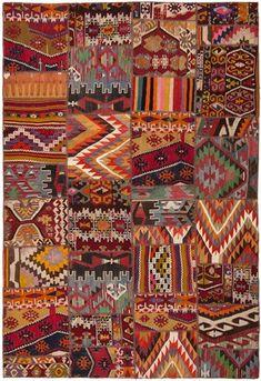 Albanie Albania Hepsi Kilim rug from Loom Tous les tapis Kilim de Loom Carpet Remnants, Creative Textiles, Kilim Rugs, Boho Rugs, Bohemian Decor, Floor Rugs, Persian Rug, Oriental Rug, Textures Patterns