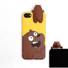 KL-Boutiques 3D Panda Bear Case For iPhone 6S 6 Plus 7 7Plus Cute Cartoon Animal Soft Silicone Phone Back Cover Coque Fundas
