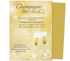 Champagne Bachelorette Party Template