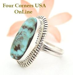 Four Corners USA Online - Size 9 Dry Creek Turquoise Ring Thomas Francisco American Indian Silver Jewelry NAR-1453, $161.00 (http://stores.fourcornersusaonline.com/size-9-dry-creek-turquoise-ring-thomas-francisco-american-indian-silver-jewelry-nar-1453/)