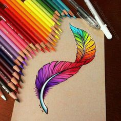 art, drawing, and feather kép