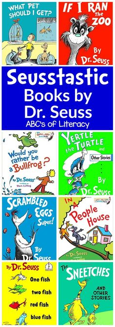 Your students are sure to love celebrating Dr. Seuss' birthday and reading month with these 60 Seusstastic Books By Dr. Seuss. Dr. Seuss Books | Books for Kids | Reading Month