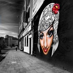 face - piece of street art in Bristol