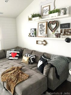 5 Simple Gallery Wall Ideas. Shelving Behind CouchLiving Room ...