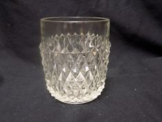 VGC Vintage Indiana Glass Co. 8 oz Diamond Point Double Old Fashion Glass by TatersTradingPost on Etsy