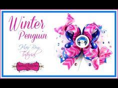 Winter Penguin Hair Bow Tutorial