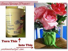 Make a Spring Vase out of that Yogurt Container