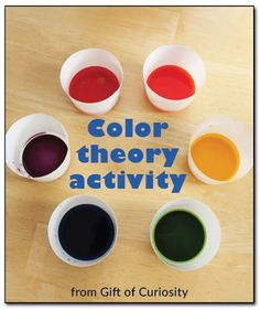 A simple color theory activity to help preschoolers understand how the primary colors combine to create secondary colors #handsonlearning || Gift of Curiosity