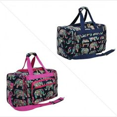 49befa7853 Elephant Print NGIL Canvas Carry On 17