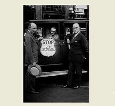 1930 Prohibition Agent Car PHOTO,Prohibition Bureau Sign, Bootleggers Beware