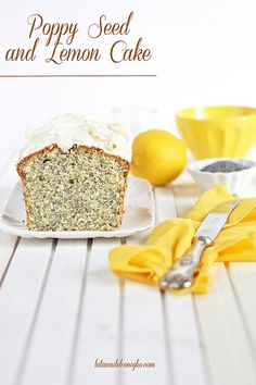 Poppy Seed and Lemon Cake
