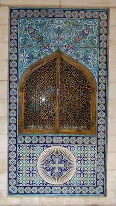 Armenian window. The Armenian art is based on a mix of metal, stone and glazed ceramics.