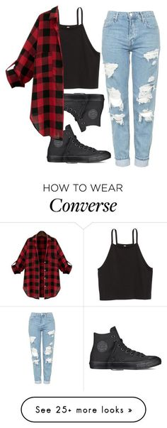 Cute Outfits Untitled #274 by miarojo on Polyvore featuring Topshop and Converse #polyvoreoutfits