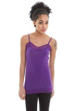 13fccebe47433 Zenana Womens Lace Trim Camisole Layering Tank