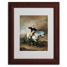 'Portrait of George Washington' by John Faed Matted Framed Painting Print