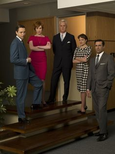 Pin for Later: The Bold Costumes on Mad Men Are the Reason Why We Already Miss the Show Season 2 Pete Campbell, Joan Holloway, Roger Sterling, Peggy Olson, and Don Draper