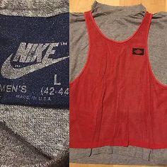 cb1378aa5fc85 Details about Nike Air Jordan Vtg 80s Jersey Tri Blend Rayon Shirt sz L Made  USA Rare michael. Nike Air JordansAthletic Tank Tops